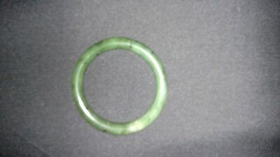 Fabulous Quality Apple Green Chinese Jade Bangle Bracelet 9mm in diameter