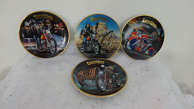 EASYRIDERS  SET OF 4 MINI PLATES from SPIRITS  OF THE OPEN ROAD COLLECTION