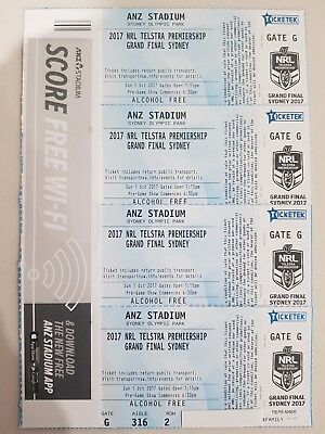 2017 NRL Grand Final Tickets - Bronze Family Pass - Non Alcohol