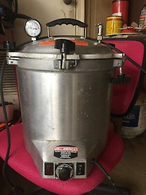 All American Electric Pressure Steam Sterilizer 25X Autoclave with Instructions