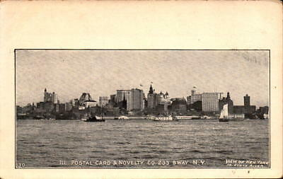 Postcard View of New York From North River Ill. Postal Card Co.