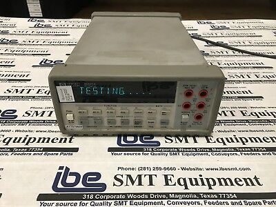 HP Keysight Agilent 34401A Digital Multimeter, Self-Test Passed