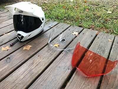 Bell Mx-9 Adventure Helmet Glvoes Shields Package Slightly Used