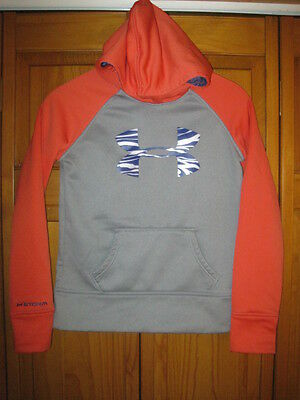 Under Armour Storm Cold Gear sweatshirt girls YMD M gray coral