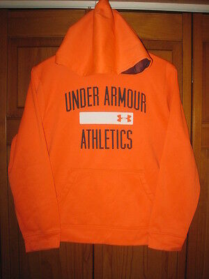 Under Armour Cold Gear blaze orange sweatshirt kids boys YLG L pheasant hunting