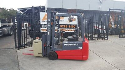 Nichiyu Electric Forklift Container Entry 4.7m Lift 1.8 Ton $8499+GST NEGOTIABLE