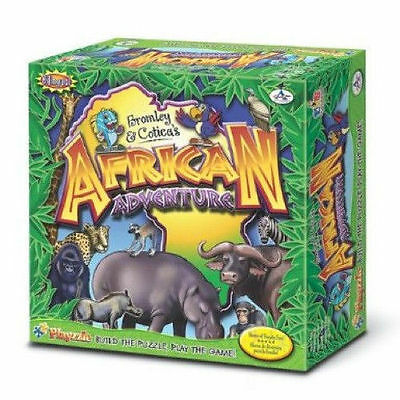African Adventure Bilingual Animals Board Game Critical Thinking NEW