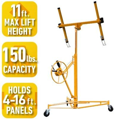 Drywall and Panel Hoist, Welded Steel Frame, 150 lb. 16 ft. Capacity, PRO-SERIES