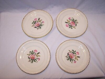 Harker Pottery Co. Wild Rose Bread Plate - Set of 4