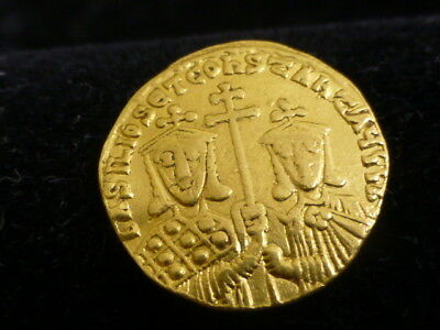 Authentic Byzantine Empire Gold coin ,  Basil I , Constantinople AD 868-879