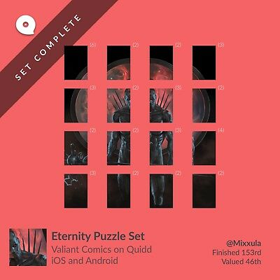 Quidd Valiant - Eternity Puzzle! Complete set, 1st edition sold out!