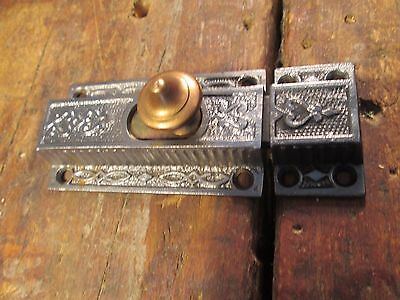 One  Antique  Cabinet  Door  Latch / Brass Knob