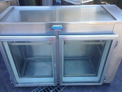 commercial bench fridge 2 door food grade $300 neg