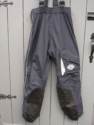 Harley-Davidson Motorcycle Rain Gear Overalls Size Small Riding Gear - Black