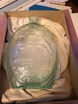 Free Trade Sailors Rights Kensington Glass Works Philadelphia Masonic Flask 1825