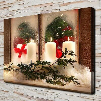Christmas Santa Claus HD Canvas Print Home Decor Paintings Wall Art Pictures