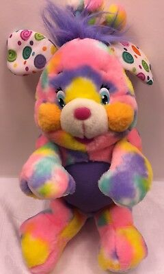 Popples Pixie Doodle Plush 2001 Tie Dyed Rainbow Stuffed Animal Toy 12""