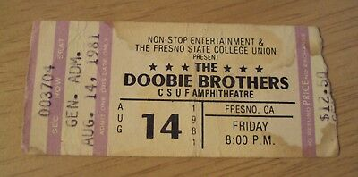 "VTG 1976 ROCK Concert TICKET Stub~""The DOOBIE BROTHERS""~Fresno CA~"