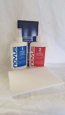 Novus Plastic Cleaner / Scratch Remover - 8 oz. Kit with #1 & #2 Polish