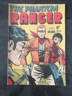 FREW THE PHANTOM RANGER # 60 EX/NM AUSTRALIAN DRAWN COMIC 1950's
