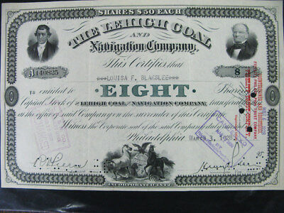 US Stock certificate 1928 Lehigh Coal And Navigation Co