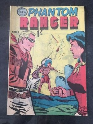 FREW THE PHANTOM RANGER # 103 EX/NM AUSTRALIAN DRAWN COMIC 1950's