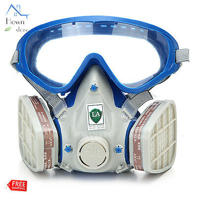 Full Face Silicone Respirator Mask Protection Painting Soldering Dust Spray Gas