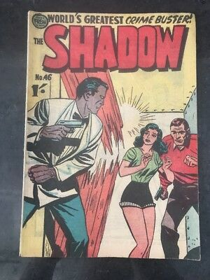FREW THE SHADOW #46 EX/VG AUSTRALIAN DRAWN COMIC 1950's