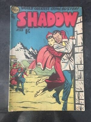 FREW THE SHADOW #35 EX/VG AUSTRALIAN DRAWN COMIC 1950's