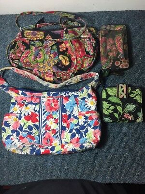 Vera Bradley Lot 4 Repair Arts Crafts 2 Wallets 2 Purse Symphony In Hue & More