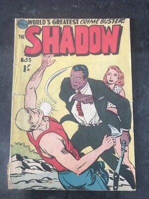 FREW THE SHADOW #53 VG AUSTRALIAN DRAWN COMIC 1950's