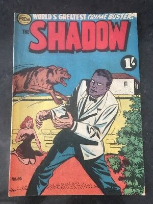 FREW THE SHADOW #66 EX/VG AUSTRALIAN DRAWN COMIC 1950's