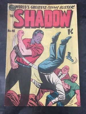 FREW THE SHADOW #48 EX/NM AUSTRALIAN DRAWN COMIC 1950's