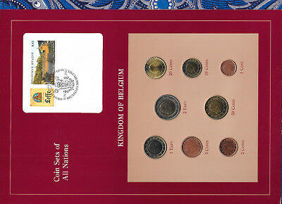 Coin Sets of All Nations Belgium EURO 1999-2002 UNC 2 Euro 2002 1 Euro 1999