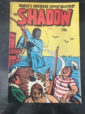 THE SHADOW #163 VG AUSTRALIAN DRAWN COMIC 1950's