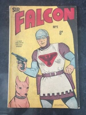FREW SIR FALCON #1 EX/NM-M AUSTRALIAN DRAWN COMIC 1950's - No. 1 - RARE