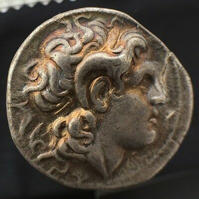 Top Quality Authentic Silver Tetradrachm Lysimachos Lysimachus FORVM Gold Toned
