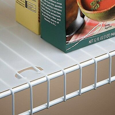 Shelf Liner for Wire Shelving 12 Inch Depth - 10 Foot Roll