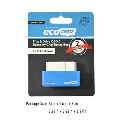 Blue Eco Drive Nitro OBD2 Performance ChipTuning Box For Car Plug And Drive 8072