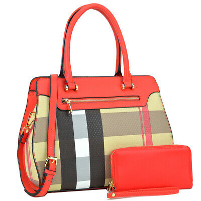 New 2018 Womens Handbag Faux Leather Satchel Bag Tote Bags Medium Purse 2 Styles