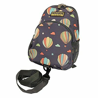 Emmzoe Toddler Backpack with Detachable Safety Harness Leash (Pastel Balloons)