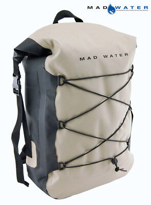 Mad Water – Classic Roll Top Waterproof Backpack, 30L, Khaki, M43104