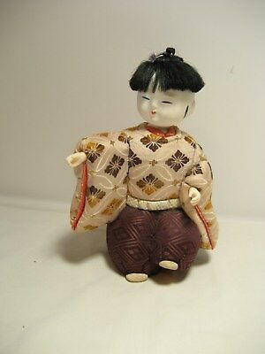 Asian Figurine Doll cloth Covered Boy