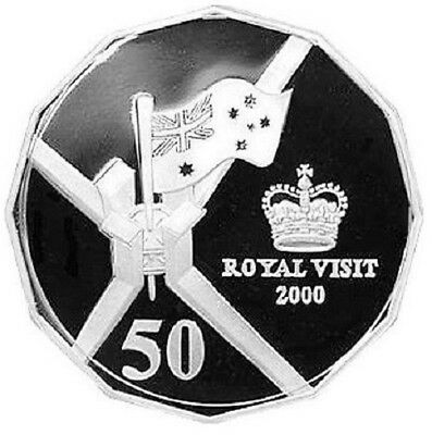 2000 The Royal Visit 50 Cent - 999 Silver Proof Coin - Royal Australian Mint