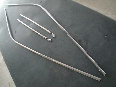 Mopar A Body Dart Scamp Valiant Stainless Drip Rail Trim Moulding Complete Oem