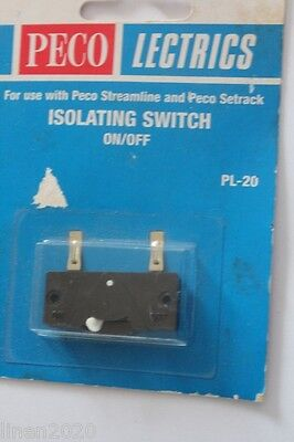 PECO Lectrics isolating switch PL-20. New, sealed but package has damage.