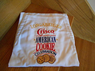Longaberger Crisco American Cookie Celebration Apron new in bag *free shipping!*