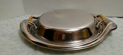 """FLAIR by 1847 Rogers Bros. Silver Plated  covered Vegetable bowl  13 1/2"""" long"""