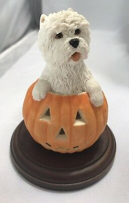 WHEATEN TERRIER Dog Pumpkin FIGURINE Statue Simpson & Sherratt England Cute!