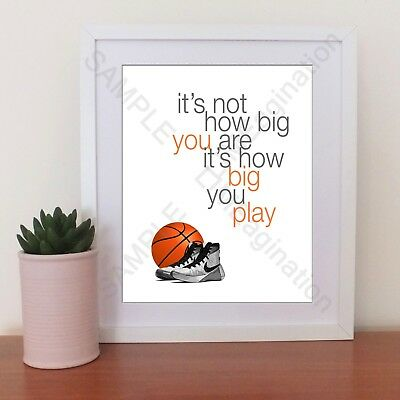 Multiple 6-10 copies Basketball Inspirational Print, UNFRAMED, Team player gift